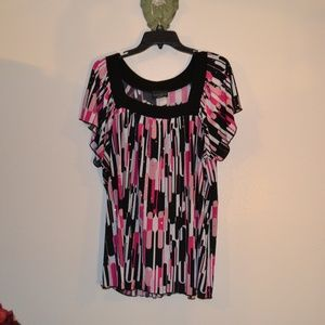 4FOR$25BRITTANY BLACK BLOUSE